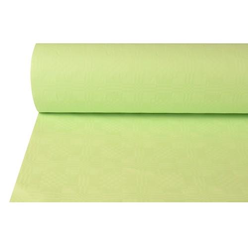Papiertischtuch mit Damastprägung 50 m x 1 m pastellgrün