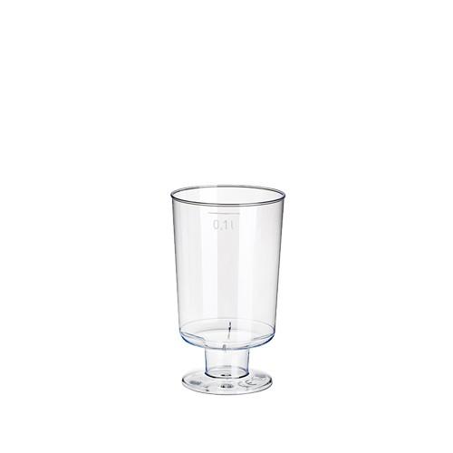 10 Stiel-Gläser für Weisswein, PS 0,1 l Ø 5,1 cm · 8,5 cm glasklar einteilig