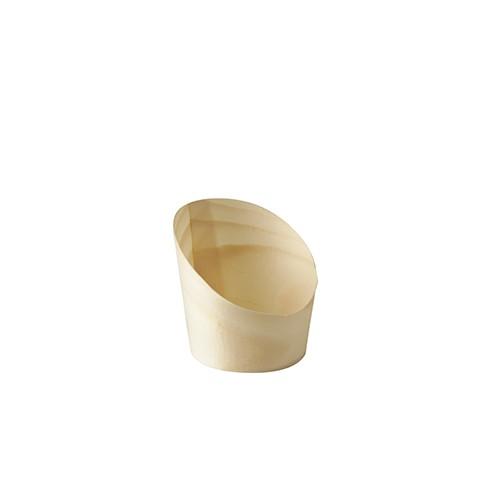 """50 Snackbecher, Holz """"pure"""" Ø 5,5 cm · 6,5 cm"""