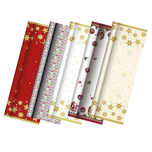 """Tischdecke, Papier 7 m x 1,2 m """"Weihnachtsmotive sortiert"""""""