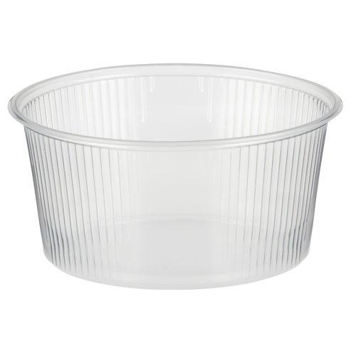 100 Verpackungsbecher, PP rund 250 ml Ø 10,1 cm · 5 cm transparent