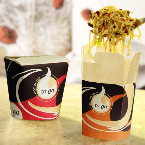 "50 Snackboxen ""To Go"" eckig 750 ml 10,1 cm x 10 cm x 9,1 cm"