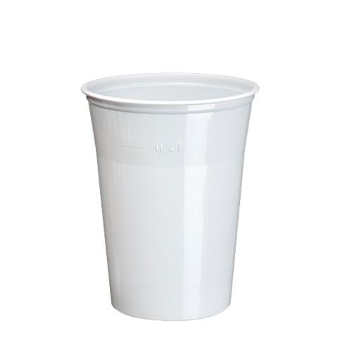 25 Trinkbecher, PS 0,4 l Ø 9,5 cm · 12 cm weiss
