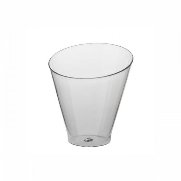"""25 Fingerfood - Becher, PS rund 70 ml Ø 6 cm · 6,4 cm glasklar """"Diagonal"""""""