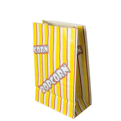 "100 Popcorn Tüten, Pergament-Ersatz 2,5 l 22 cm x 14 cm x 8 cm ""Popcorn"" fettdicht"