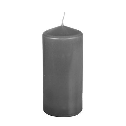 Stumpenkerze Ø 69 mm · 150 mm dunkelgrau