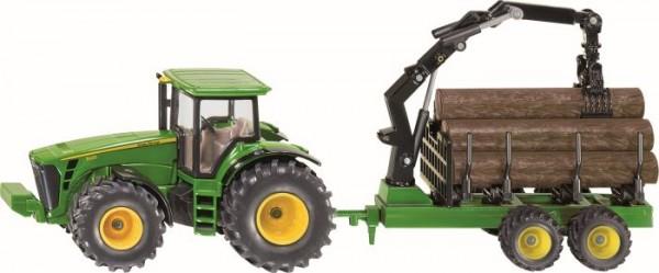 SIKU 1954 Traktor mit Forstanhänger 1:50