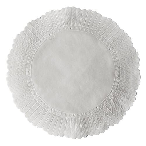 500 Plattenpapiere rund Ø 20,5 cm weiss