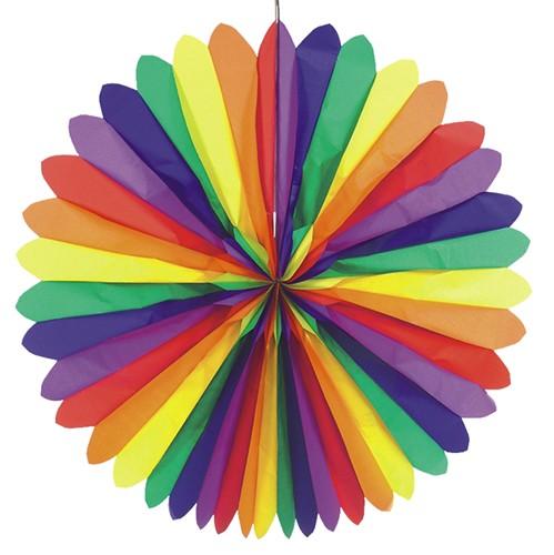 """Dekofächer Ø 120 cm """"Rainbow"""" schwer entflammbar"""