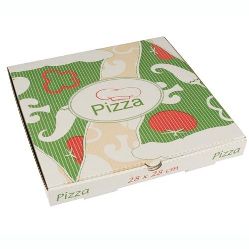 """100 Pizzakartons, Cellulose """"pure"""" eckig 28 cm x 28 cm x 3 cm"""
