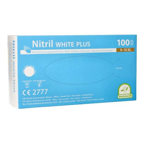 """100 """"Medi-Inn®"""" Handschuhe, Nitril puderfrei """"White Plus"""" weiss Größe XL"""