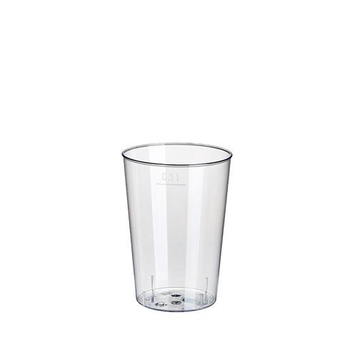 40 Trinkbecher, PS 0,1 l Ø 5,5 cm · 7,5 cm glasklar
