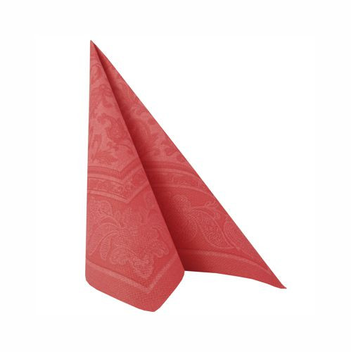 "50 Servietten ""ROYAL Collection"" 1/4-Falz 40 cm x 40 cm rot ""Ornaments"""