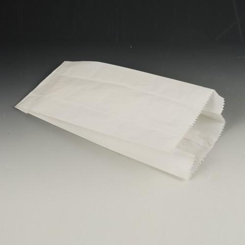 1000 Papierfaltenbeutel, Cellulose, gefädelt 24 cm x 11 cm x 6 cm weiss Füllinhalt 1 kg