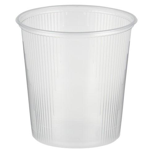 100 Verpackungsbecher, PP rund 500 ml Ø 10,1 cm · 10,3 cm transparent