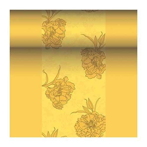 """Tischläufer, stoffähnlich, PV-Tissue Mix """"ROYAL Collection"""" 24 m x 40 cm gelb """"Thalia"""""""