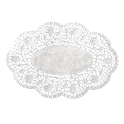 500 Mokkadeckchen oval 18 cm x 13 cm weiss