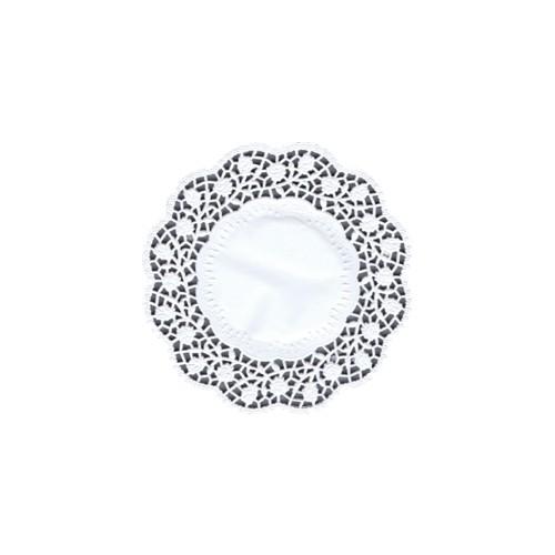 100 Teller- und Tassendeckchen rund Ø 15 cm weiss