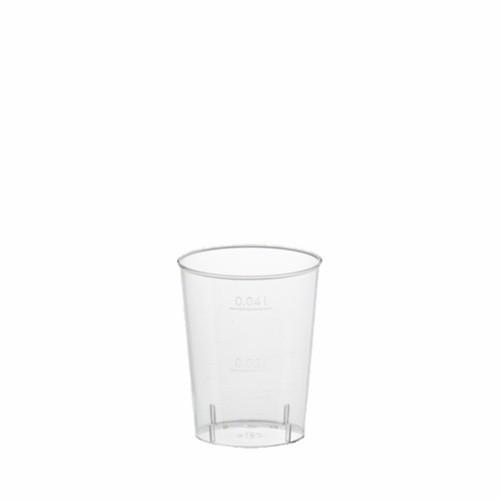40 Gläser für Schnaps, PS 4 cl Ø 4,2 cm · 5,2 cm glasklar
