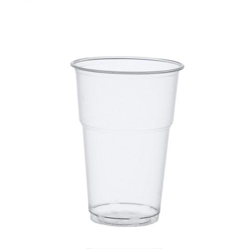 """70 Kaltgetränkebecher, PLA """"pure"""" 0,4 l Ø 9,5 cm · 13,2 cm glasklar mit Schaumrand"""