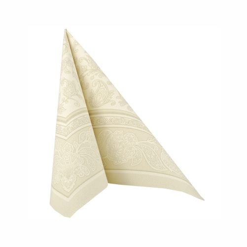 "50 Servietten ""ROYAL Collection"" 1/4-Falz 40 cm x 40 cm champagner ""Ornaments"""