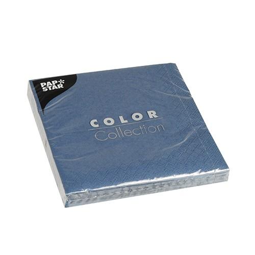 20 Servietten, 3-lagig 1/4-Falz 33 cm x 33 cm dunkelblau