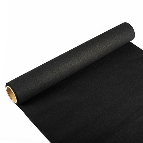 """Tischläufer, Tissue """"ROYAL Collection"""" 3 m x 40 cm schwarz"""