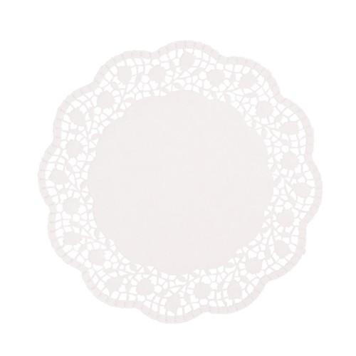 100 Tortenspitzen rund Ø 25 cm weiss