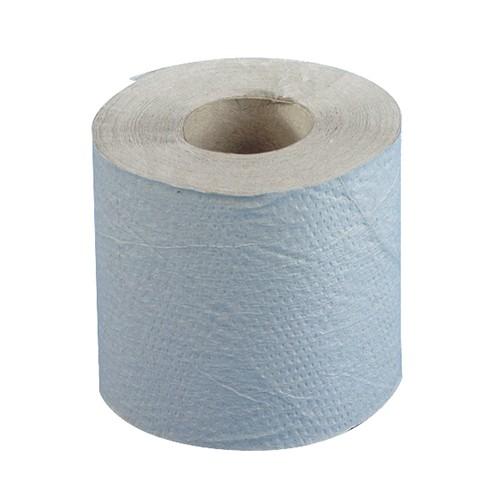 """48 Rollen Toilettenpapier, 1-lagiges Krepp Ø 11,5 cm · 12 cm x 10 cm natur """"Basic"""" 400 Blatt"""