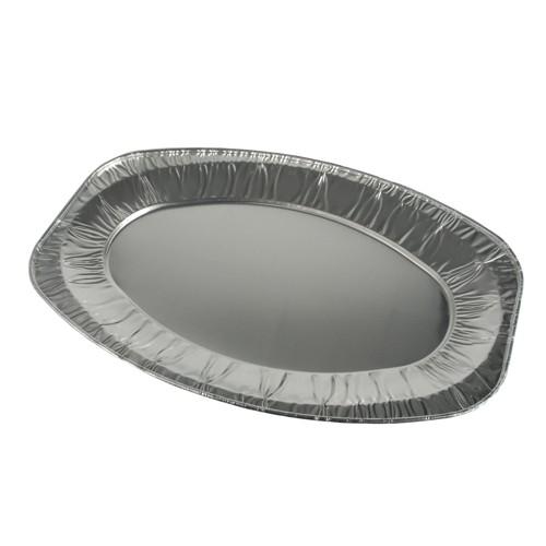 3 Servierplatten, Alu oval 43 cm x 29 cm