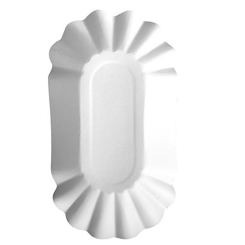 """250 Schalen, Pappe """"pure"""" oval 10,5 cm x 20 cm x 3,5 cm weiss"""