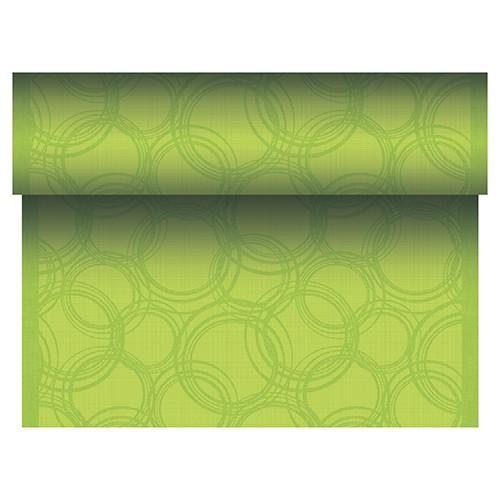 """Tischläufer, stoffähnlich, PV-Tissue Mix """"ROYAL Collection"""" 24 m x 40 cm limonengrün """"Bubbles"""""""