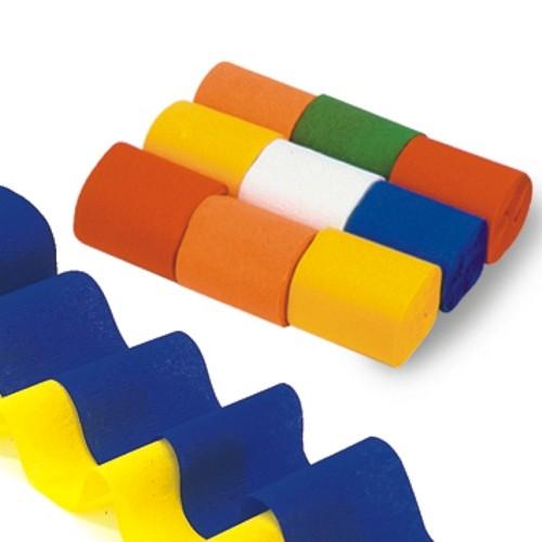9 Rollen Krepp-Bänder 10 m x 5 cm farbig sortiert schwer entflammbar