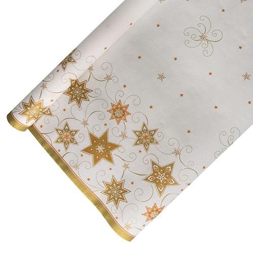 "Tischdecke, Papier 6 m x 1,2 m weiss ""Just Stars"""