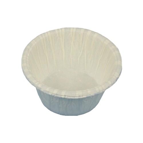 20 Muffins-Backförmchen Ø 5 cm · 3,5 cm weiss