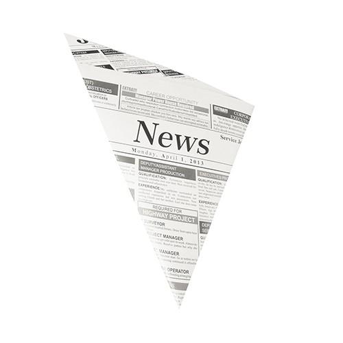 """300 Spitztüten, Pergament-Ersatz 32,5 cm x 23 cm x 23 cm """"Newsprint"""" Füllinhalt 250 g, fettdicht"""