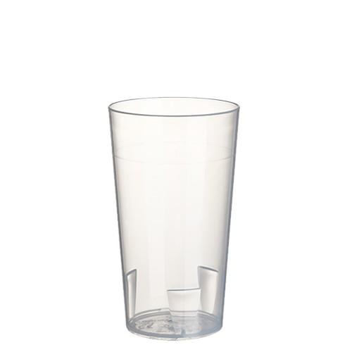 10 Mehrweg-Trinkbecher 0,2 l Ø 6,5 cm · 11,4 cm transluzent unzerbrechlich