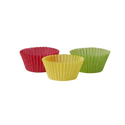 300 Backförmchen Ø 2,4 cm · 1,6 cm farbig sortiert