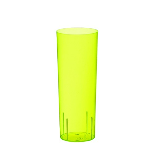 10 Gläser für Longdrinks, PS 0,3 l Ø 5,85 cm · 15,2 cm gelb