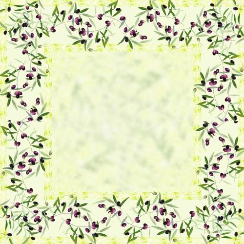"""Mitteldecke, stoffähnlich, Airlaid 80 cm x 80 cm """"Olive Twig"""""""
