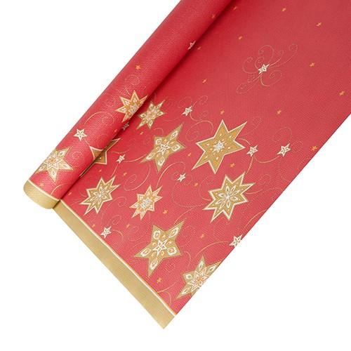 """Tischdecke, Papier 6 m x 1,2 m rot """"Just Stars"""""""