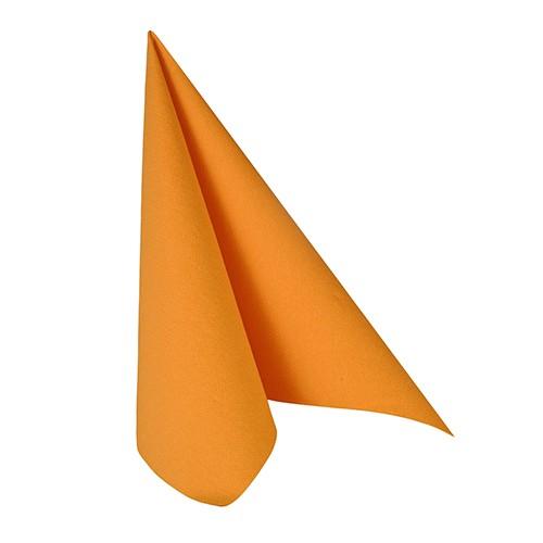 """50 Servietten """"ROYAL Collection"""" 1/4-Falz 33 cm x 33 cm orange"""