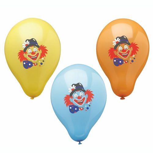"""6 Luftballons Ø 29 cm farbig sortiert """"Clown"""""""