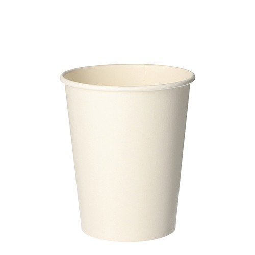 """50 Trinkbecher, Pappe """"pure"""" 0,2 l Ø 8 cm · 9,2 cm weiss"""