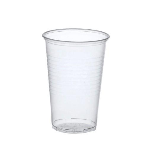50 Trinkbecher, PP 0,5 l Ø 9,5 cm · 13,7 cm transparent mit Schaumrand