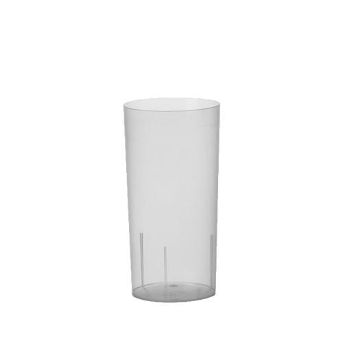 10 Gläser für Longdrinks, PP 0,2 l Ø 5,5 cm · 10,9 cm transluzent unzerbrechlich