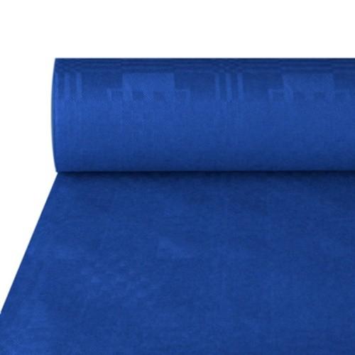 Papiertischtuch mit Damastprägung 50 m x 1 m dunkelblau
