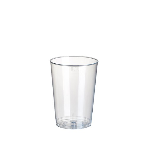 40 Trinkbecher, PP 0,1 l Ø 5,2 cm · 7,4 cm transluzent unzerbrechlich