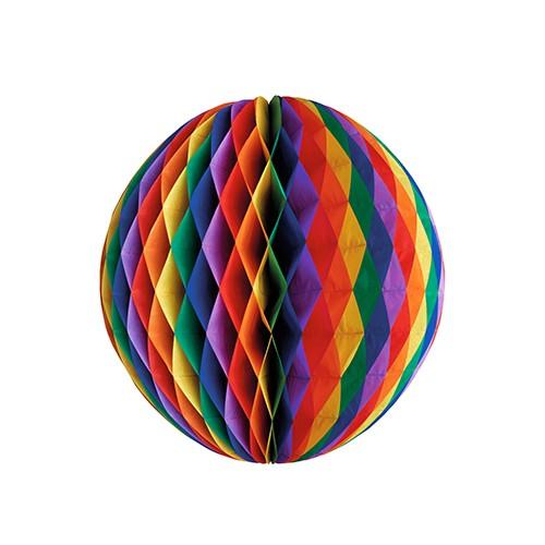 """Wabenball Ø 60 cm """"Rainbow"""" schwer entflammbar"""