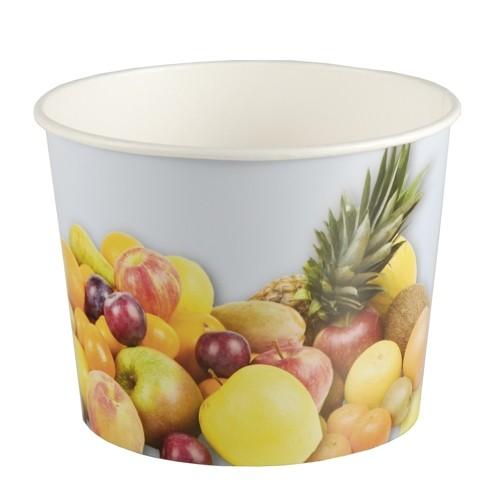 """50 Eisbecher, Pappe rund 500 ml Ø 11 cm · 8,3 cm """"Früchte"""""""